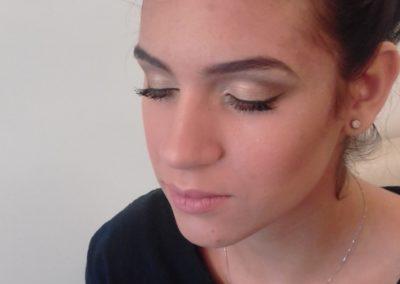 modèle de maquillage des yeux mariage