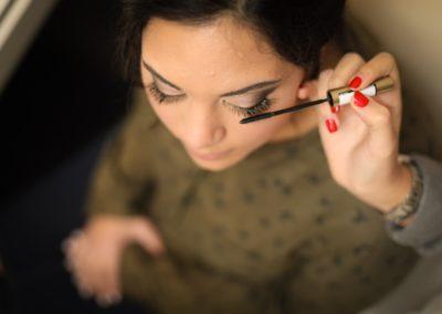 préparation maquillage professionnel sourcils
